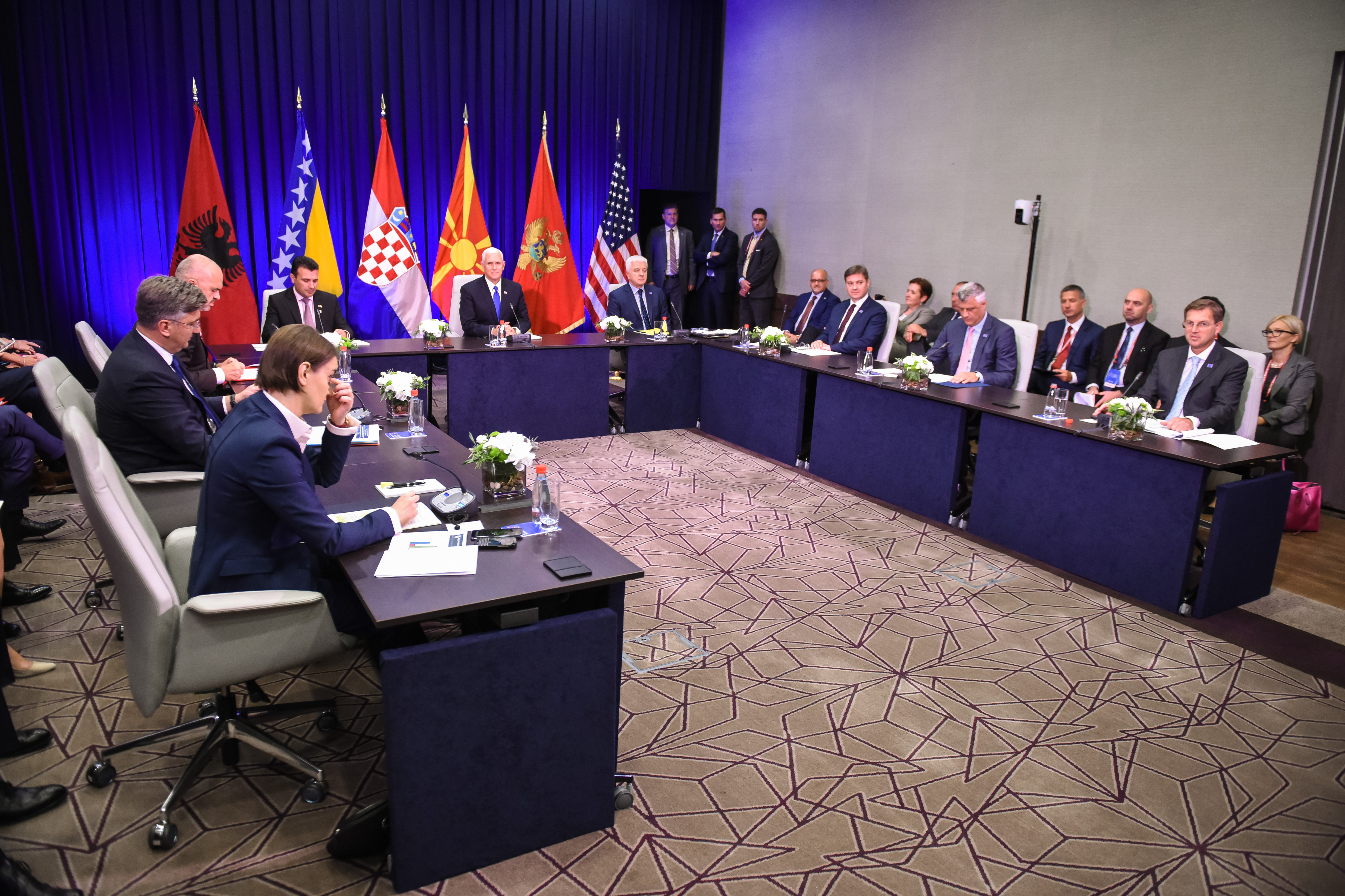 Crna gora, Podgorica. Drugi del posebnega zasedanja drzav clanic Jadranske listine in opazovalk.