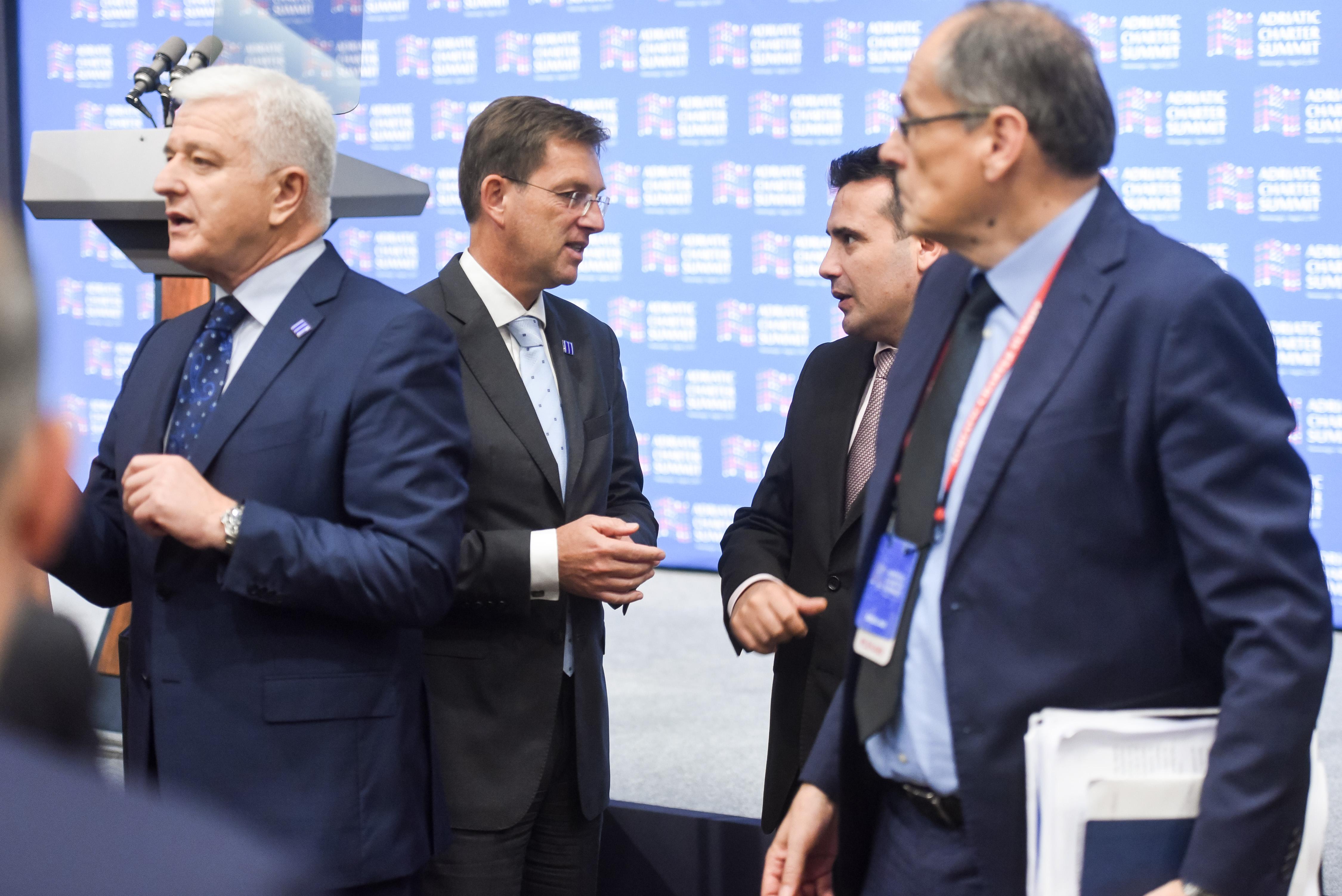 Crna gora, Podgorica. Uvodni del posebnega zasedanja drzav clanic Jadranske listine in opazovalk.