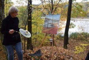 Slikanje ob jezeru