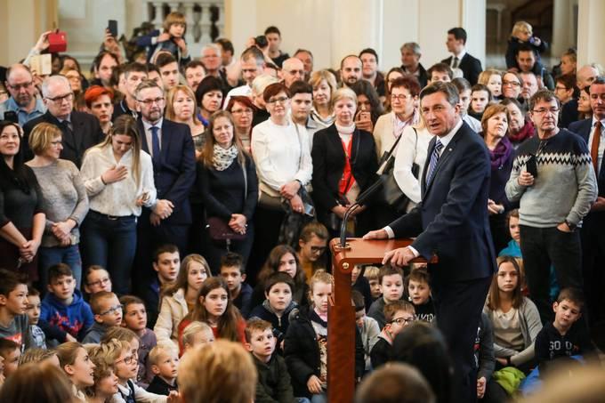 Ljubljana, predsedniska palaca. Dan odprtih vrat predsedniske palace ob dnevu samostojnosti in enotnosti. Predsednik republike Borut Pahor.