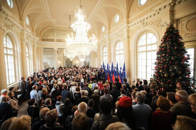 Ljubljana, predsedniska palaca. Dan odprtih vrat predsedniske palace ob dnevu samostojnosti in enotnosti.
