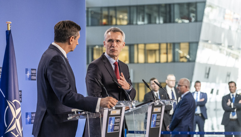 Joint press point between NATO Secretary General Jens Stoltenberg and the President of Slovenia, Borut Pahor