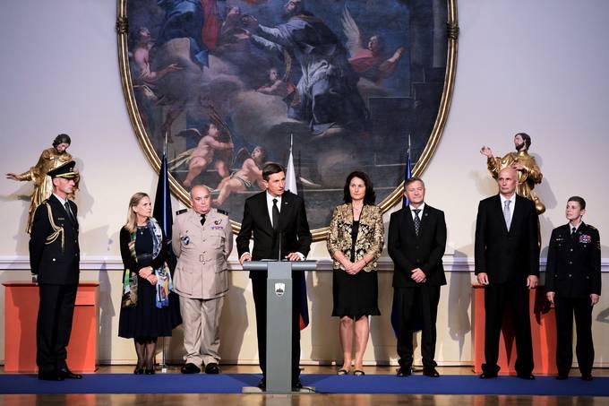 Ljubljana, Narodna galerija. Odprtje konference nacelnikov obrambnih sil clanic zveze Nato v okviru vojaskega odbora Nata.